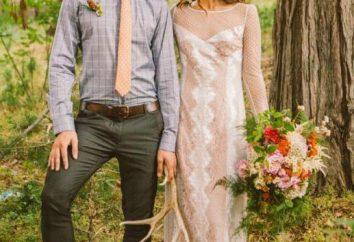 Ślub w stylu boho. Oryginalna suknia ślubna w stylu boho dla panny młodej