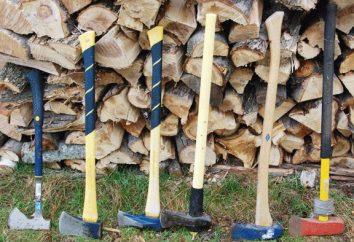 Cleaver bois: force la main et la beauté