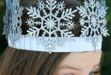 coroa rainha da neve bonito, feito com suas próprias mãos