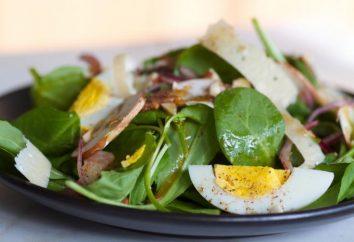 Salades, épinards: recette pas à pas