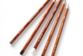 Profesjonalne ołówki do rysowania. Kolorowe ołówki. Wosk ołówki