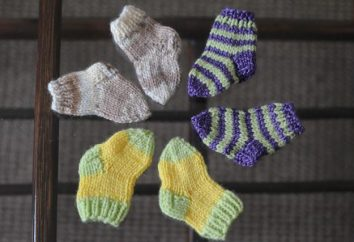 Zu den kleinen Füße nicht einfrieren. Stricken von Socken für neugeborene Speichen