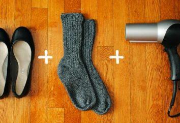 Comment étirer les chaussures à la maison: beaucoup de moyens efficaces
