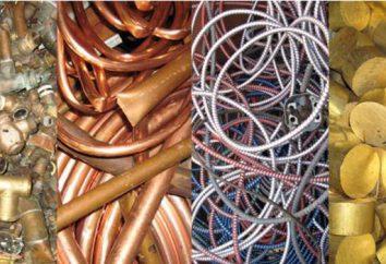 Liste des métaux non ferreux: caractéristiques, l'application