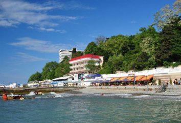 ¿Dónde en la playa de arena y el mar Sochi claro?