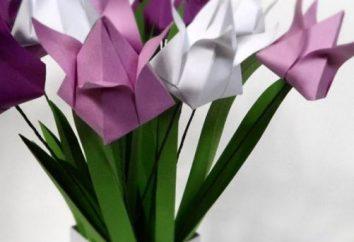 Tulpe aus Papier mit eigenen Händen