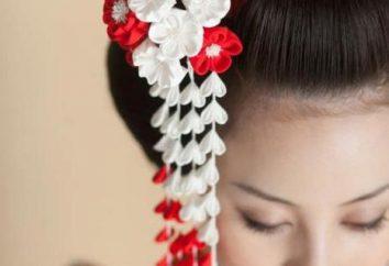 Kanzashi: l'histoire de l'événement, en particulier. mains de tulipes