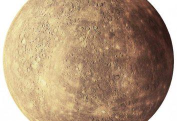 Quelle est la surface de Mercure? Caractéristiques de mercure