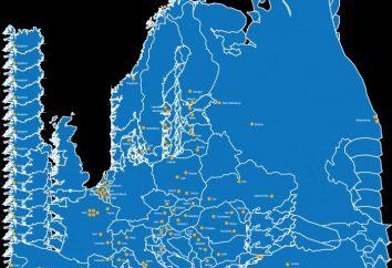 division politique et de la zone de l'Europe