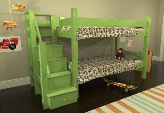 Costruire un letto a soppalco con le mani e tutti possono - Costruire letto a soppalco ...