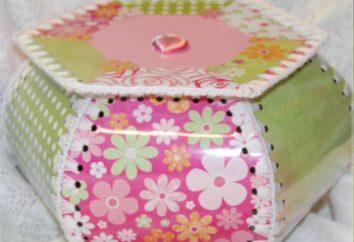 scatole di fantasia di carte per la bellezza e ornamenti