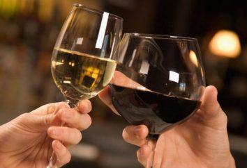 Wie und mit dem, was sie trinken Wein