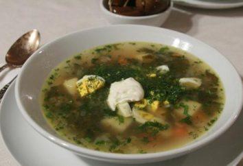 Cottura della minestra di acetosa