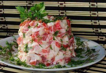 """Insalata """"Mar Rosso"""" con bastoncini di granchio: la ricetta e proprietà utili di cibo"""