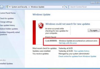 """Código 800b0001 erro Windows Update"": como corrigi-lo?"