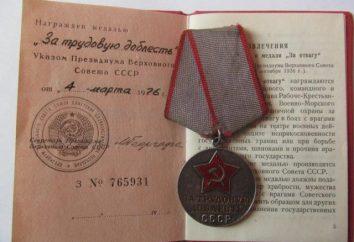 La médaille « pour le travail Valor » (URSS)