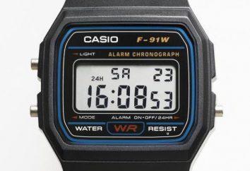 Cuarzo Reloj Casio F-91W: descripción, guía, comentarios de los clientes