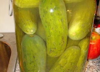 Le plus simple pour préparer la saumure pour les concombres (dans 1 litre d'eau)