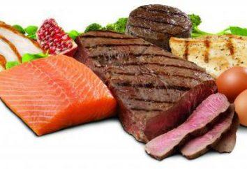 Proteínas en los alimentos. proteínas de mesa en los alimentos