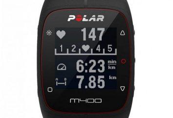 Zegarki Polar M400: opis, dane techniczne, opinie