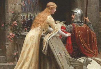 Letteratura Knightly del Medioevo: una lista e una panoramica