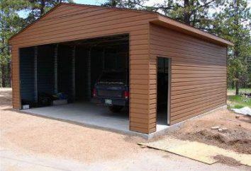 O projecto é uma garagem para 2 carros: as dimensões e alinhamento óptimos