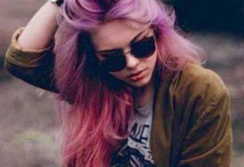a coloração do cabelo no estilo do grunge: características e equipamentos