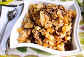 Köstliches Gericht – Braten mit Pilzen