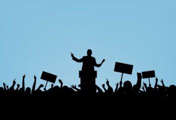 Rodzaje procesów politycznych. Struktura procesu politycznego
