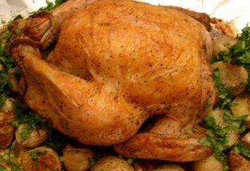 Como no forno para assar batatas com frango: um passo a passo receita