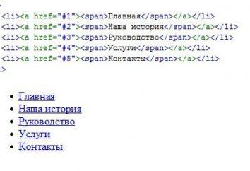 CSS menu w pionie: robi to sam