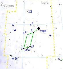 Constellation Lyra – piccola costellazione dell'emisfero boreale. Stella Vega nella costellazione della Lira