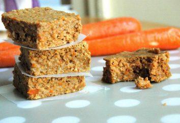 Gâteau aux carottes maigre. plats Lent: recettes