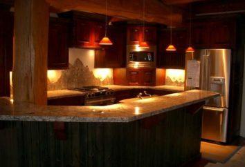 Retroiluminação LED para cozinha