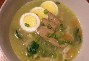 Comment faire cuire la soupe avec foie de poulet?