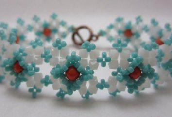 Perlen Armband geflochtene Schema für Anfänger. Armbänder aus Perlen und Perlen