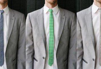 Comment attacher une cravate étroite. types de nœuds