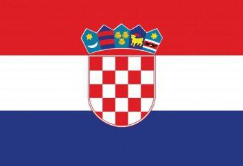 Bandiera della Croazia come un simbolo nazionale