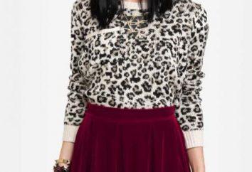 falda de terciopelo: estilos de la moda, lo que debe llevar