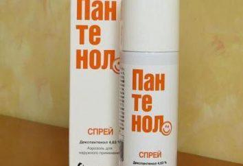 """burn """"Pantenolo"""" – uno spray, pomata, gel. Istruzioni per l'uso"""