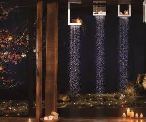 Tropical prysznic. Stojak z prysznicem. Bateria prysznicowa z prysznicem