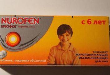 """""""Nurofen"""" em comprimidos para as crianças: manual de instruções, análogos, opiniões"""