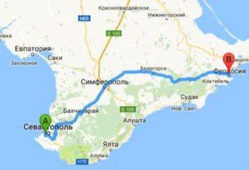 Distanza da Feodosii a Sebastopol attraverso Simferopol e attraverso Yalta