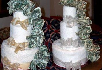 Oryginalny tort z pieniędzy przez swoje ręce