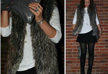 Stilvolle Sache – Pelzweste. Von dem, was für sie zu tragen perfekt aussehen?