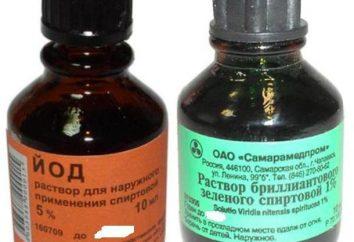 Zelenka et de l'iode – qui est préférable d'utiliser dans le traitement des plaies?