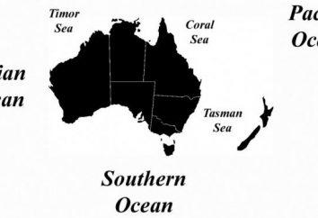 Qué océano está en Australia? ¿Cuántos de ellos?