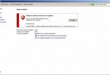 Kod 8007000E. Błąd aktualizacji systemu Windows 7: Jak to naprawić?