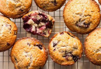 muffins délicieux. Recette avec des cerises