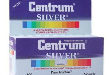 """Vitamine """"Centrum Silver"""": Gebrauchsanweisungen, Zusammensetzung und Bewertungen"""